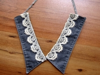 AGY TEXTILE ARTIST Collar Necklace